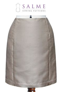 Fitted Panel Skirt - Salme Sewing Patterns