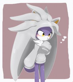 I'm sorry, but that is Blaze the cat wearing a Silver hoodie! I'm done!