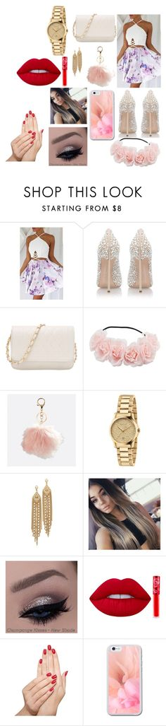 """""""graduation day"""" by bestfriendfatima on Polyvore featuring Casadei, Avenue, Gucci, Capwell + Co, Lime Crime and Piggy Paint"""