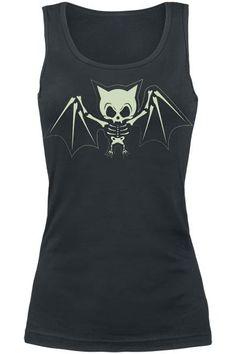 Naisten toppi - Fledermaus Skelett Dark Fashion, Gothic Fashion, Grunge Style, Cool Outfits, Fashion Outfits, Gym Outfits, Bat Shirt, Alternative Fashion, Alternative Style