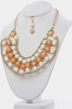 """Necklace - 16"""" + Extension  Earrings - 2"""" Drop"""