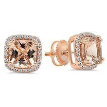 Le Vian LeVian Morganite Earrings 1/15 ct tw Diamonds 14K Gold JmW4I