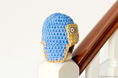 Newborn Aviator Hat Crochet Pattern via Hopeful Honey