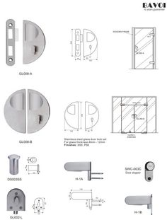 Canter-Stainless steel glass door lock manufacturer[GL008A,B,H-1A,B] Glass Door Lock, Lock Set, Door Hinges, Door Locks, Shower Doors, Hardware, Stainless Steel, Gate Locks, Computer Hardware
