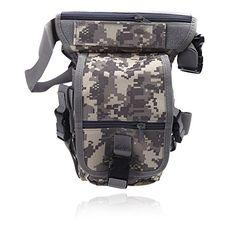 Camping Bivy Sacks - happyliya Drop Leg Bag Motorcycle Outdoor Bike Camping Cycling Thigh Pack Waist Belt Tactical Bag Sports Bag Multipurpose ACU >>> Want additional info? Click on the image.