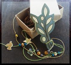 Lucky Charm / OLIVE BRANCH Lucky Charm / Wooden Olive Branch Lucky Charm by allabouthandicraft on Etsy
