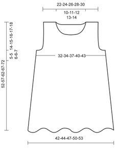"""Bluebelle / DROPS Children 23-1 - DROPS šaty s vlnkovým vzorem pletené z příze """"Karisma"""". - Free pattern by DROPS Design"""