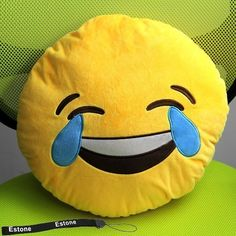 new emoji smiley emoticon yellow round cushion pillow stuffed plush soft toy plush funny and. Black Bedroom Furniture Sets. Home Design Ideas
