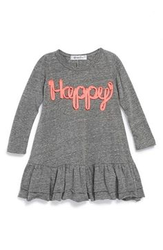 Free shipping and returns on Joah Love 'Happy' Long Sleeve Dress (Baby Girls) at Nordstrom.com. In a supersoft heathered blend, this long-sleeve dress is sure to deliver on its swirly statement.