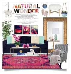 """""""Natural Wonder"""" by katrinaalice ❤ liked on Polyvore featuring interior, interiors, interior design, thuis, home decor, interior decorating, Renwil, Cafe Lighting, CB2 en Best Home Fashion"""