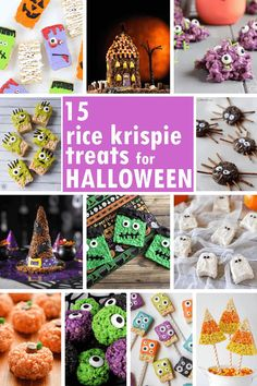 HALLOWEEN RICE KRISPIE TREATS: 15 of the BEST cereal treat ideas