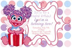 Have a fairy happy birthday with your friend Abby Cadabby! Your birthday invites can be one of a kind using our template. You may print (4x6)
