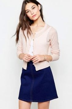 Yumi Button Front Cardigan - Pink