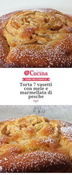 Torta 7 vasetti con mele e marmellata di pesche della nostra utente Giada. Unisciti alla nostra Community ed invia le tue ricette!