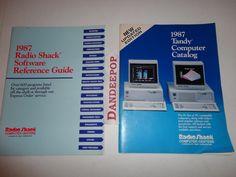 2 Vintage Radio Shack 1987 Tandy Computer Catalogs find me at www.dandeepop.com