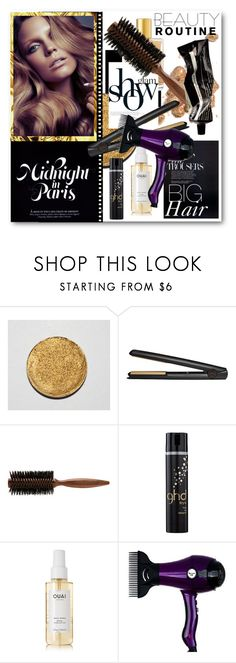 """""""#Glam Hair - All The Tools You Need For Big Waves"""" by nikkisg ❤ liked on Polyvore featuring beauty, Chanel, GHD, Phyto, Ouai, Aesop and glamhair"""