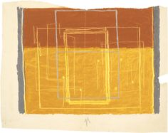 Josef Albers. Study for an abstract painting. 1940. Oil on paper