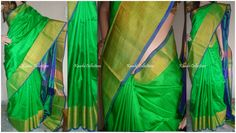 Parrot Green Uppada silk saree write us for order sparklingfashion3@gmail.com