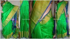 Parrot Green Uppada silk saree write us for order sparklingfashion3@gmail.com
