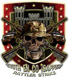 870th Engineer Co Sapper Rattler Strike Army Shirt $17.76
