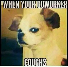 When your coworker coughs LOL!!!!