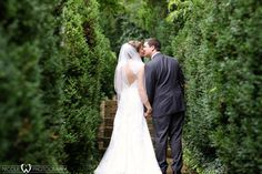 """Patty said """"I do"""" in a keyhole back bridal gown at the Hilton Marietta Hotel & Conference Center"""