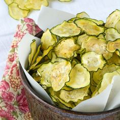 Homemade Salt & Vinegar Zucchini Chips, a perfectly healthy chip for any party!