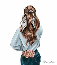 Beautiful Girl Drawing, Cute Girl Drawing, Cartoon Girl Drawing, Girl Cartoon, Fashion Artwork, Fashion Painting, Fashion Wallpaper, Fashion Drawing Dresses, Fashion Drawings