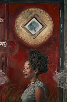 Depicted/Connected: Paintings by Tim Okamura, an exhibition at the Joan Hisaoka Gallery from September 20 - October Click-through to our website to learn more about the opening reception and artist's talk. Image: Tim Okamura, Sun Rise on U Street, Tim Okamura, Canadian Painters, Black Artwork, National Portrait Gallery, African American Art, Black Women Art, Elements Of Art, Mixed Media Canvas, Figure Painting