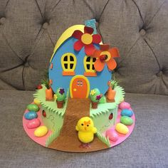 Easter Bonnet —   Chick House  (1197x1500)