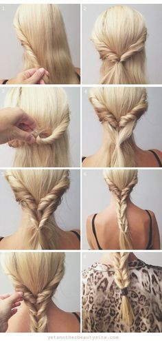 Faux Fishtail Braid hair style fashion beauty how to