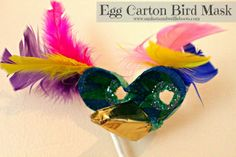 Sun Hats & Wellie Boots: Egg Carton Bird Mask