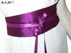 Seidengürtel in Violett von alw-design auf DaWanda.com