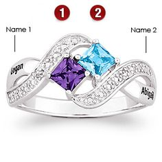 Mothers ring birthstone all kids 4 kids or family ring momdad lovers romp sterling silver promise ring aloadofball Images