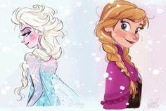 Resultado de imagem para frozen elsa and anna fan art Frozen Disney, Anna Frozen, Film Frozen, Frozen Fan Art, Frozen And Tangled, Art Disney, Disney Films, Disney And Dreamworks, Disney Magic
