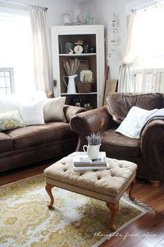 Thoughts from Alice: Spring 2014 {Partial} Living Room Reveal: Rustic Farmhouse Decor