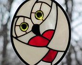 such a cute stained glass owl!