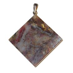 """Pietersite Pendant 50 Rare Brecciated Tigers Hawks Eye Faceted Healing Crystal, Sterling Silver 1.7"""" (Gift Box)"""