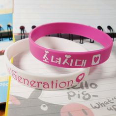 Girl's Generation silicone wristbands of jelly color Kpop Merch, Kpop Fashion, Candy Colors, Girls Generation, Jelly, I Want You, Jelly Cream, Jello