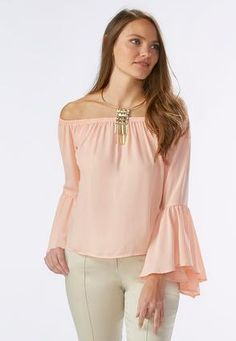 Cato Fashions Flutter Sleeve Off The Shoulder Top #CatoFashions