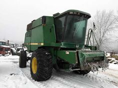 John Deere 9500 combine salvaged for used parts. This unit is available at All States Ag Parts in Hendricks, MN. Call 877-530-6620 parts. Unit ID#: EQ-25215. The photo depicts the equipment in the condition it arrived at our salvage yard. Parts shown may or may not still be available. http://www.TractorPartsASAP.com