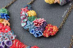Miniature Coral Jewelry in polymer clay |by Stephanie Kilgast (Petit Plat)