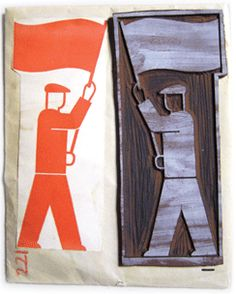 Gerd Arntz (1900-1988) ... member of the Isotype workshop who created the signature images now seen as seminal to pictogram and icon design.