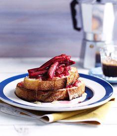 Australian Gourmet Traveller breakfast recipe for rhubarb and mascarpone French toast