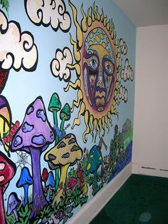 """Hippy Room 72550243982319658 - flowerfaeriee: """" seattlesoneandonly: """" Fucking yes all the way yes """" Woah """" Source by Trippy Painting, Hippie Painting, Hippie Drawing, Smoke Painting, Wal Art, Trippy Drawings, Chill Room, Hippy Room, Aesthetic Room Decor"""