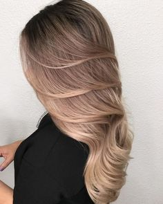 Blowout look: ash copper blonde blowout, beautiful and lux hair perfect for prom or homecoming.
