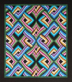 "Quilt Pattern #175 Mystic Nites, ... 27 colored fabrics ... Quilt Size:   97"" x 112"""