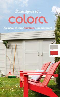 Summerhouse pinterest - Verf balken ...