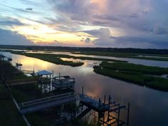 Best sunset on the island.  This view can't be beat!  #oceanislenc #vacation #saltlife #anyportinastorm #soundlife #beachhouse