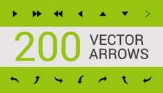 Freebie Pack: 200 Free Vector Arrow Icons #Vector #Illustrator #GraphicDesign